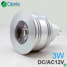 Foco Led 3 Watts 180 Lumenes MR11 GU4 Alta Eficiencia Plus 60a Eficiencia Plus 120