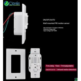 Sensor Interruptor Infrarrojo PIR 110 Volts AC 1000 Watts Pared